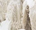 Icy waterfall paterson falls is frozen and beautiful Stock Photos