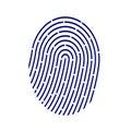 ID application icon. Fingerprint vector illustration on white background.
