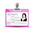 Id card vector background illustration Royalty Free Stock Photo