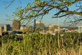 Idaho state capital from the country tree and grass boise city skyline with building Stock Images