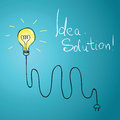 Idea bulb with wire illustration Stock Images