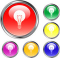 Idea Button Royalty Free Stock Photos
