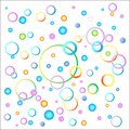 The idea of a child`s background image in a variety of colors. Balloons and spirals of festive colors. vector image