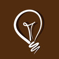 Idea concept light bulb on brown background Royalty Free Stock Photography