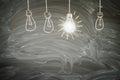Idea concept with light bulb