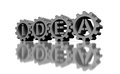 Idea concept silver gears with text Stock Images