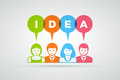 Idea concept vector teamwork and ideas illustration Royalty Free Stock Photography