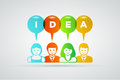 Idea concept vector teamwork and ideas illustration Stock Photos