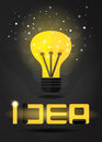 Idea conceptfor lamp and text. Vector EPS 10. Royalty Free Stock Photo