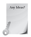 Idea conception with key Royalty Free Stock Photography