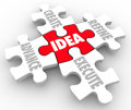 Idea Create Advance Refine Execute Strategy Plan Puzzle Pieces Royalty Free Stock Photo