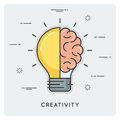 Idea and creativity. Thin line concept.