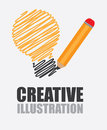 Idea design over gray background vector illustration Royalty Free Stock Image