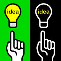 Idea hand symbols Royalty Free Stock Photos