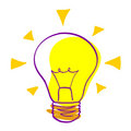 Idea icon - vector bulb Stock Images