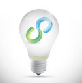 Idea infinity bulb icon illustration design over white Royalty Free Stock Image