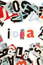 Idea inscription Royalty Free Stock Images