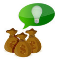 Idea Investments concept Stock Photo