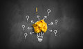 An idea leads to follow up questions and answers Royalty Free Stock Photo