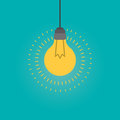 Idea light bulb inspiration concept, Flat style illustration.