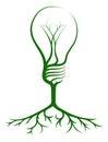 Idea light bulb tree Royalty Free Stock Photo