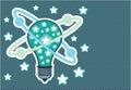 Idea Light bulb Vector pop art Royalty Free Stock Photo