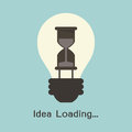 Idea loading progress on concept vector Stock Photos
