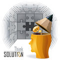 Idea Man - Puzzles, Challenges and Solutions Stock Photo