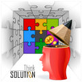Idea Man - Puzzles, Challenges and Solutions Royalty Free Stock Photo