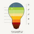 Idea meter infographic vector illustration of elements Stock Images