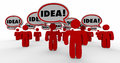Idea Speech Bubble People Sharing Imagination
