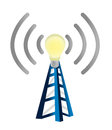 Idea wifi tower Stock Image