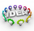 Idea Word Surrounded by Light Bulbs Royalty Free Stock Photo