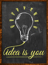 Idea is you wallpaper blackboard Royalty Free Stock Photo
