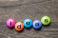 Ideas Button Royalty Free Stock Photo