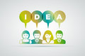 Ideas concept vector teamwork and illustration Stock Image