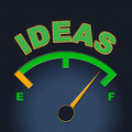 Ideas Gauge Indicates Display Concepts And Inventions Royalty Free Stock Image