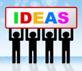 Ideas Idea Means Conception Invention And Innovation Stock Photo