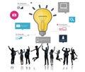 Ideas inspiration creativity biz infographic innovation concept Stock Image