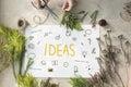 Ideas Lightbulb Musicnote Speech Icon Concept Royalty Free Stock Photo