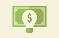 Ideas making money concept bulb Royalty Free Stock Photo