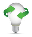 Ideas in process lightbulb concept illustration de Royalty Free Stock Photo