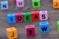Ideas word on table