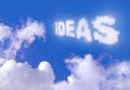 Ideas written clouds against blue sky Royalty Free Stock Image