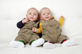 Identical twin boys Royalty Free Stock Photo