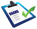 Identity, Quality and Loyalty checklist clipboard Royalty Free Stock Photo