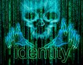 Identity theft concept digital illustration Stock Photos