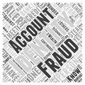 Identity theft and fraud alert word cloud concept word cloud concept vector background Royalty Free Stock Photo