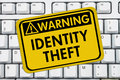 Identity Theft Warning Sign Royalty Free Stock Photo