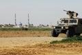 IDF patrol along Gaza strip border fence Royalty Free Stock Photo
